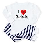 I Love Cheerleading Baby Pajamas