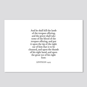 LEVITICUS  14:25 Postcards (Package of 8)