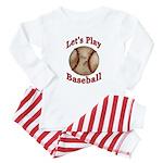Lets Play Baseball Baby Pajamas