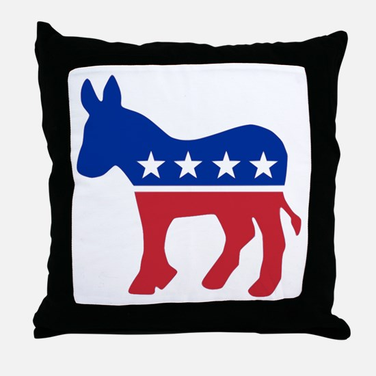 Democrat Donkey Throw Pillow