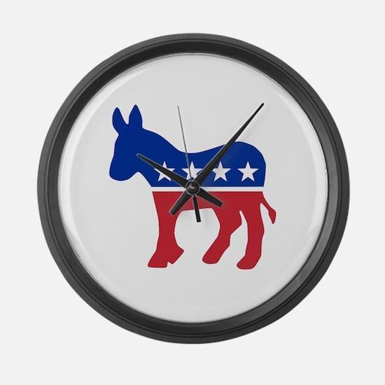 Democrat Donkey Large Wall Clock