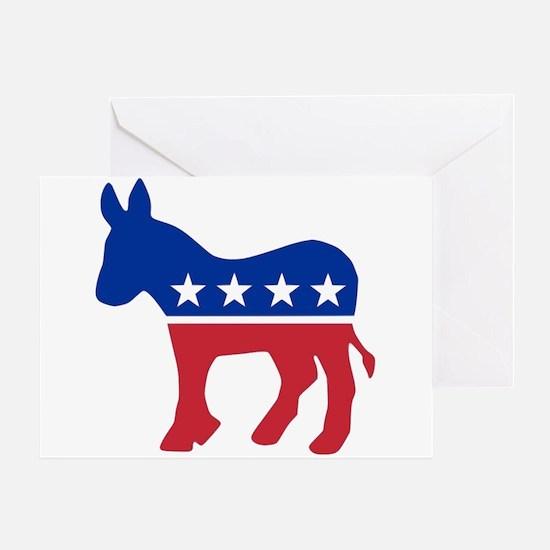 Democrat Donkey Greeting Card