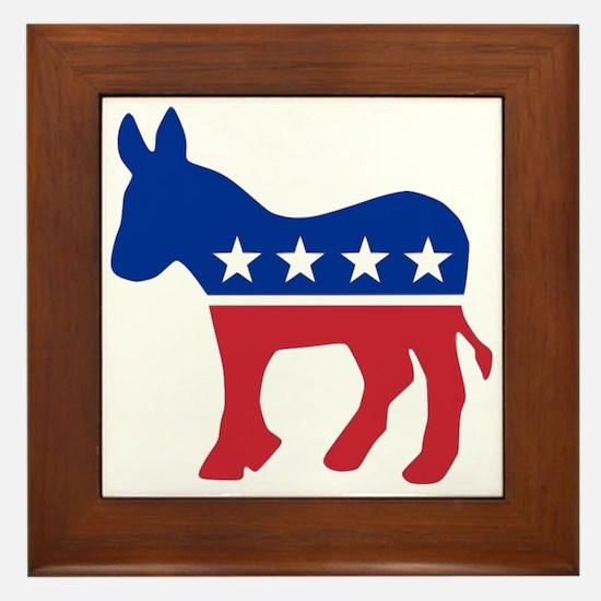 Democrat Donkey Framed Tile