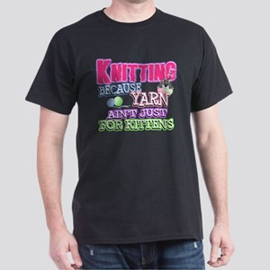 Knitting Kitten Dark T-Shirt