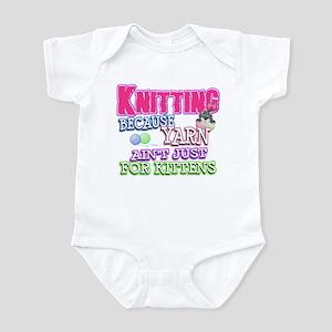 Knitting Kitten Infant Bodysuit