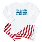Favorite Auntie Baby Pajamas