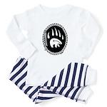 Native Art Tribal Bear Baby Pajamas