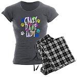 Crazy Dane Lady Women's Charcoal Pajamas