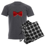 Bow Tie Red Men's Charcoal Pajamas