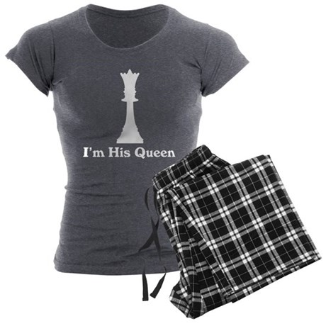 I'm His Queen Couples Women's Charcoal Pajamas