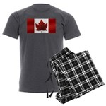Canada Flag Men's Charcoal Pajamas