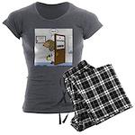 Porcupine Acupuncture Women's Charcoal Pajamas