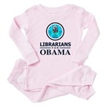 Librarians for Obama Baby Pajamas