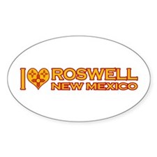 I Love Roswell, NM Oval Sticker