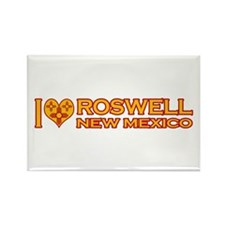 I Love Roswell, NM Rectangle Magnet