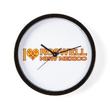 I Love Roswell, NM Wall Clock