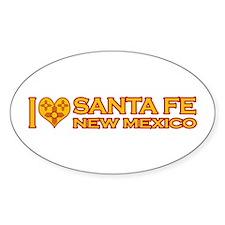 I Love Santa Fe, NM Oval Sticker