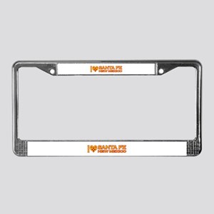 I Love Santa Fe, NM License Plate Frame