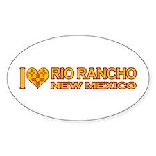 I Love Rio Rancho, NM Oval Sticker