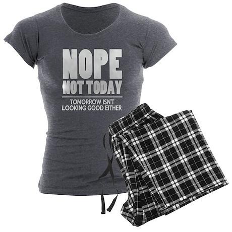 Nope Not Today Women's Charcoal Pajamas