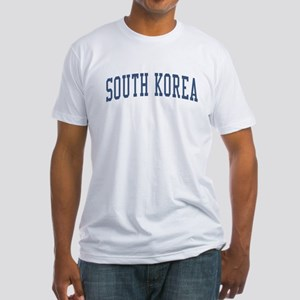 South Korea Blue Fitted T-Shirt