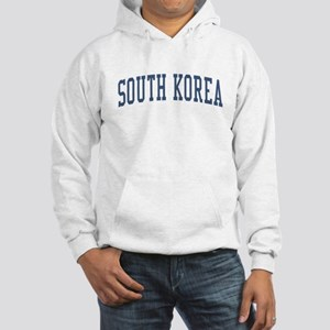 South Korea Blue Hooded Sweatshirt