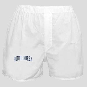 South Korea Blue Boxer Shorts