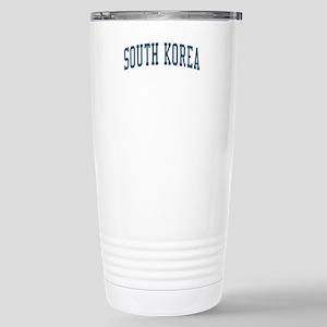 South Korea Blue Stainless Steel Travel Mug