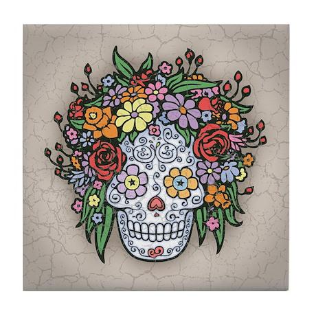 Mujere Muerte con Gracias Tile Coaster