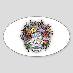 Mujere Muerte con Gracias Oval Sticker