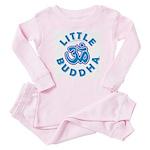 Little Buddha Yoga Symbol Baby Rompers Blue