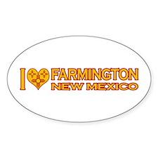 I Love Farmington, NM Oval Sticker