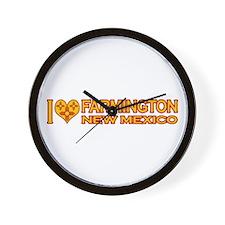 I Love Farmington, NM Wall Clock