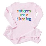 CHILDREN ARE A BLESSING Baby Pajamas