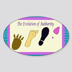Authority Oval Sticker