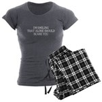 I'm smiling... Women's Charcoal Pajamas