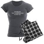 I'm smiling... Women's Charcoal Pajamas
