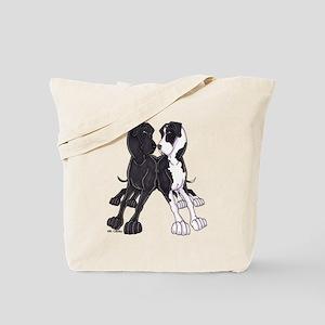 NBlk N Mtl Lean Tote Bag