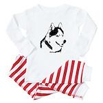 Siberian Husky Sled Dog Baby Pajamas