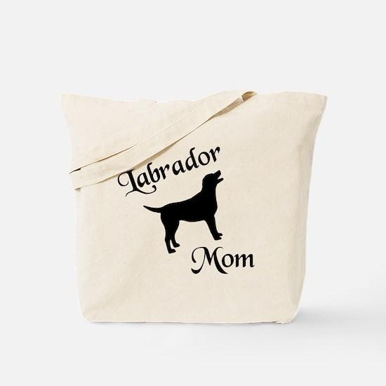 Labrador Mom w/ Silhouette Tote Bag