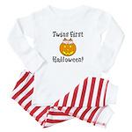 Twins First Halloween Baby Pajamas