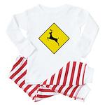 Deer Crossing Sign - Baby Pajamas