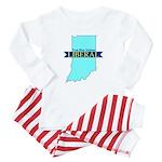 True Blue Indiana LIBERAL Baby Pajamas