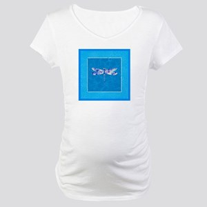 Blue Dragonfly Maternity T-Shirt