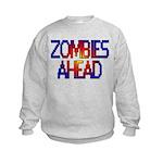 Zombies Ahead Kids Sweatshirt