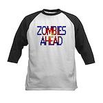 Zombies Ahead Kids Baseball Jersey