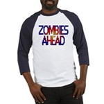 Zombies Ahead Baseball Jersey
