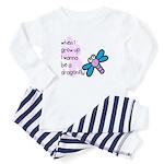 I wanna be a dragonfly Baby Pajamas