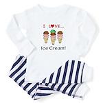 I Love Ice Cream Baby Pajamas