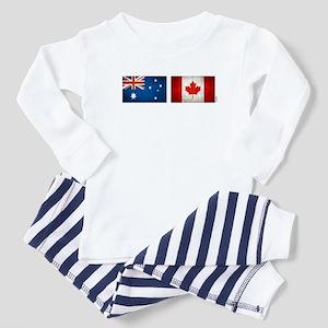 australia canada flags Baby Pajamas